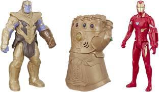 MARVEL Iron Man, Thanos and Infinity Gauntlet Titan Hero Series