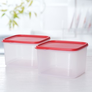 KEEP TAB Tupperware Multi-utility LARGE 2 cols 2500ml square containers