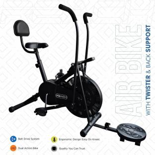 Reach Exercise Cycle Fitness Air Bike Dual-Action Stationary Dual-Action Stationary Exercise Bike
