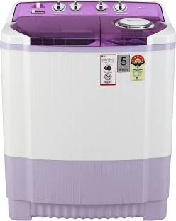 LG 7.5 kg 5 Star Rating Semi Automatic Top Load Pink, White
