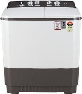 LG 9 kg 5 Star Rating Semi Automatic Top Load Grey, White