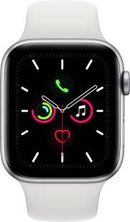 APPLE Watch Series 5 GPS + Cellular 44 mm Silver Aluminium Case with White Sport Band