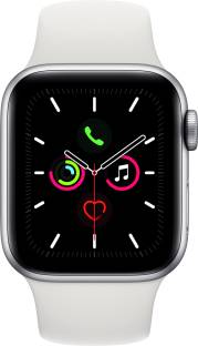 APPLE Watch Series 5 GPS + Cellular 40 mm Silver Aluminium Case with White Sport Band