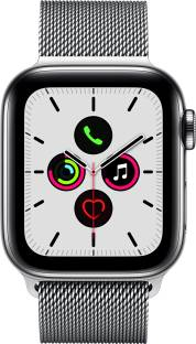 APPLE Watch Series 5 GPS + Cellular 40 mm Stainless Steel Case with Stainless Steel Milanese Loop