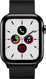 APPLE Watch Series 5 GPS + Cellular 44 mm Space Black Stainless Steel Case with Space Black Milanese L...
