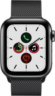APPLE Watch Series 5 GPS + Cellular 40 mm Space Black Stainless Steel Case with Space Black Milanese L...