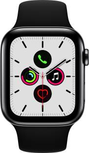 APPLE Watch Series 5 GPS + Cellular 44 mm Space Black Stainless Steel Case with Black Sport Band