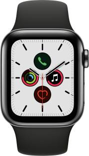 APPLE Watch Series 5 GPS + Cellular 40 mm Space Black Stainless Steel Case with Black Sport Band
