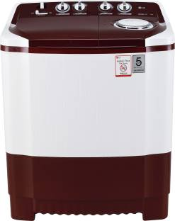 LG 7 kg Semi Automatic Top Load Washing Machine (P7010RRAA, White & Maroon)