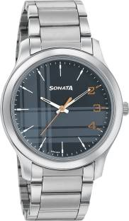 SONATA 77106SM04 Analog Watch  - For Men