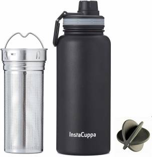INSTACUPPA Thermos Infuser Water Bottle 470ML, Stainless Steel Infusion Unit,Recipes eBook 1000 ml Flask