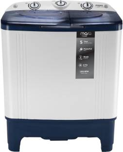 MarQ by Flipkart 6.5 kg Semi Automatic Top Load Washing Machine (MQSAHB65, Blue)