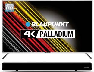 Blaupunkt 127 cm (50 inch) Ultra HD (4K) LED Smart TV with Metallic Bezel and External Soundbar