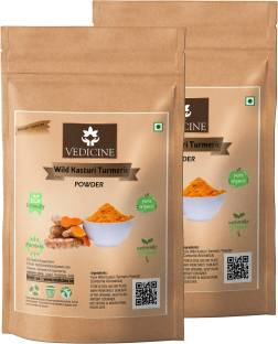 VEDICINE Oragnic Wild Amba Haldi Kasturi Turmeric Powder For Face Pack