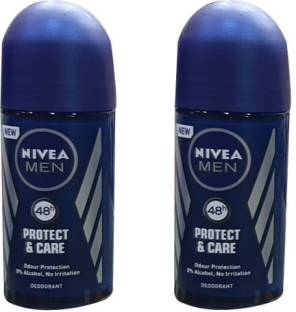 NIVEA MEN PROTECT & CARE (PACK OF 2) Deodorant Roll-on  -  For Men