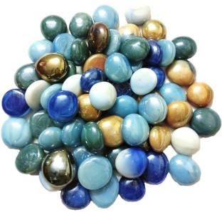 DS Creations Glass stone gravel pebble milky round 65 Vase Filler