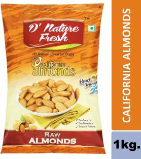 D NATURE FRESH California Almonds 1kg (2Pack of 500g) Almonds