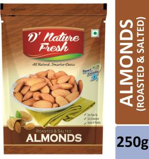 D NATURE FRESH Roasted & Salted Almonds 250g (Pouch) Almonds