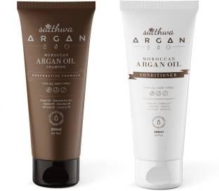 Satthwa Argan Oil Shampoo & Conditioner Combo