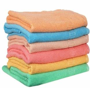 vinutha store Hand Towels Set of 6 Piece for Kitchen, wash Basin & Gym, Soft & Super Absorbent, Multicolor Napkins
