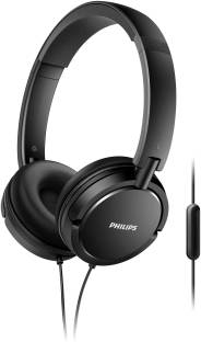 Philips SHL5005/00 Wired Headset   Black, On the Ear  Philips Headphones