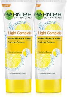 GARNIER Skin Naturals, Light Complete Facewash (Pack of 2), 100g each