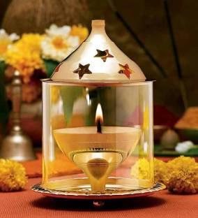 Flipkart SmartBuy Brass and Glass Akhand Brass Table Diya Set