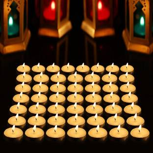 AuraDecor Smokeless Unscented Tealight Pack of 50, Burning Time 2.5 to 3 hours Candle