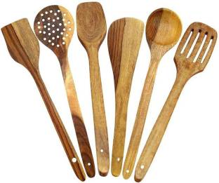 HomEnrich 1292 Cooking Spoons | Baking Spoons | Ladle | Spatula | Wood Ladle | Wood Spatula | Wood Spoons | Wooden Spatula | Wooden Ladle Kitchen Tool Set