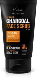 Men Deserve Activated Charcoal Face Scrub DE-TAN and Detox (115 ml) Scrub