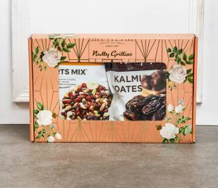 Nutty Gritties Mixed Nuts Dry Fruits(Sports Mix-350g and Kalmi Dates-350g)