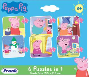 Frank Peppa Pig - 6 In 1 Puzzle