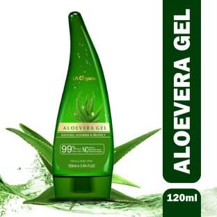 LA Organo Aloe Vera Gel 120ml - 99% Pure Soothing Aloe Vera Gel