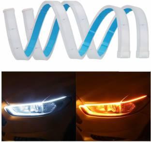 PRTEK Universal Car LED Strip Light Daytime Running Indicator Headlight, Indicator Light, Side Marker Motorbike, Car, Van, Truck LED (12 V, 12 W)