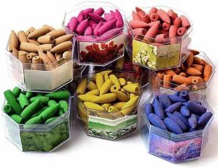 pcb products IC-01 Mixed Backflow, Rose, Jasmine, Chandan & Lavender, Incense Cone Agarbattis