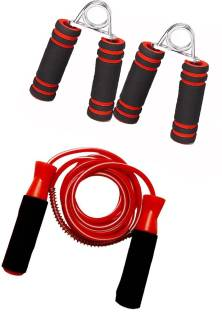 Proactive Sports & Fitness Ball Bearing Foam Handle Jump Rope & 2Pcs. Hand Grips Gym & Fitness Kit