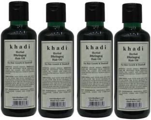 Herbal Khadi Khadi Herbal Bhringraj Hair Oil Pack Of 4 Hair Oil (210 ml) Hair Oil