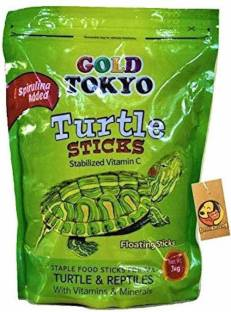 Taiyo Pluss Discovery Gold Tokyo Turtle Sticks with Added Spirulina (Refill Pouch) 1 kg Dry New Born, ...