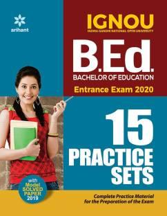 15 Practice Sets Ignou B.Ed Entrance Exam 2020