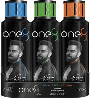 one8 by Virat Kohli Aqua + Fresh + Willow Perfume Body Spray Set-Men Perfume Body Spray  -  For Men