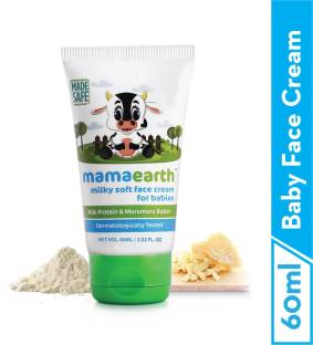 MamaEarth Milky Soft Face Cream With Murumuru Butter for Babies, 60 ml