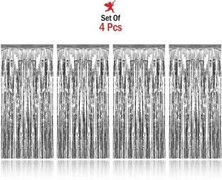 Party Propz Silver Foil Curtain