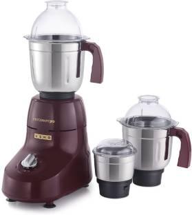 USHA Microsmart Pro 3773 750-Watt Mixer Grinder 750 Juicer Mixer Grinder (3 Jars, WINE)