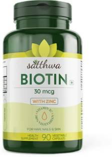 Satthwa Biotin With Zinc For Hair, Nails & Skin