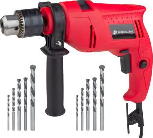 BUILDSKILL Professional High Quality DIY Reversible BGSB13RE Hammer Drill Machine with 10 High Quality Bits Hammer Drill