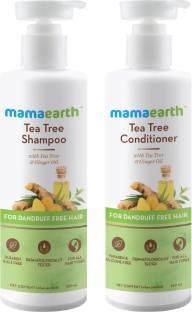 """MamaEarth """"Tea Tree Anti Dandruff Hair Kit Tea Tree Shampoo, 250ml and Tea Tree Conditioner, 250ml"""""""