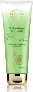 Body Cupid Tea Tree and Neem Anti Acne  with Tea Tree Oil & Neem Extract - 100mL Face Wash