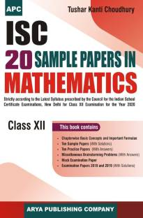 ISC 20 Sample Papers in Maths Class 12