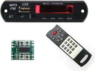 Electronic Spices Combo of Bluetooth FM USB AUX WITH PAM8403 (HW-104) 3+3 watts Power Amplifier Board Car Stereo