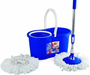 cello Kleeno Compacto Spin Mop with 2 refill (Blue) Wet & Dry Mop